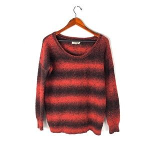 UO Ecote sweater striped knit cardigan pullover M